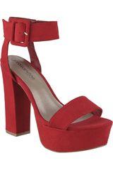 Platanitos Rojo de Mujer modelo SP-CRUSH01 Tacos Sandalias Plataformas