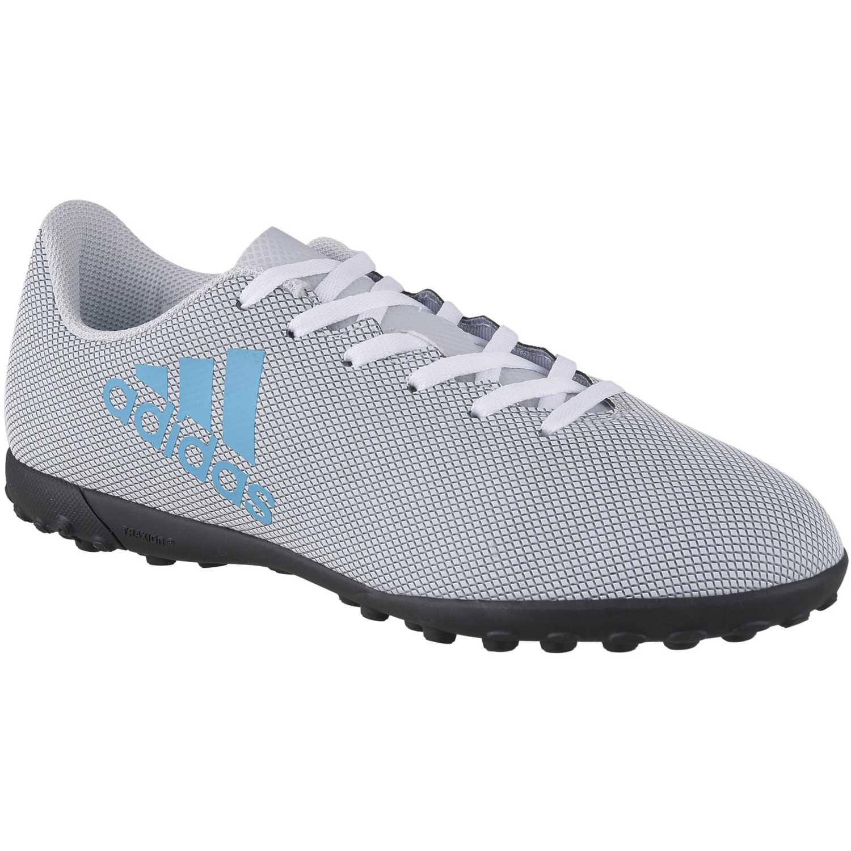 sports shoes f77d6 f3c75 Zapatilla de Jovencito adidas Gris  Celeste x 17.4 tf j