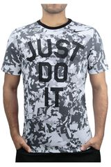 Nike Blanco / Gris de Hombre modelo DFCT CAMO JUST DO IT TEE Deportivo Polos