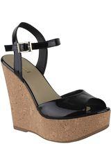 Limoni - Cuero Negro de Mujer modelo SPW ANJELY07 Casual Cuña Sandalias