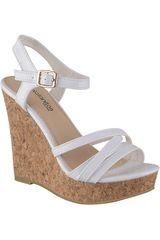 Platanitos Blanco de Mujer modelo SPW-99B11 Sandalias Cuña Plataformas
