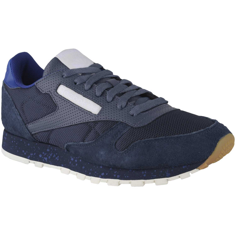 Zapatilla de Hombre Reebok Azul / Acero cl leather sm