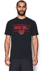 Polo de Hombre Under Armour Negro / Rojo UA BASKETBALL WORDMARK TEE