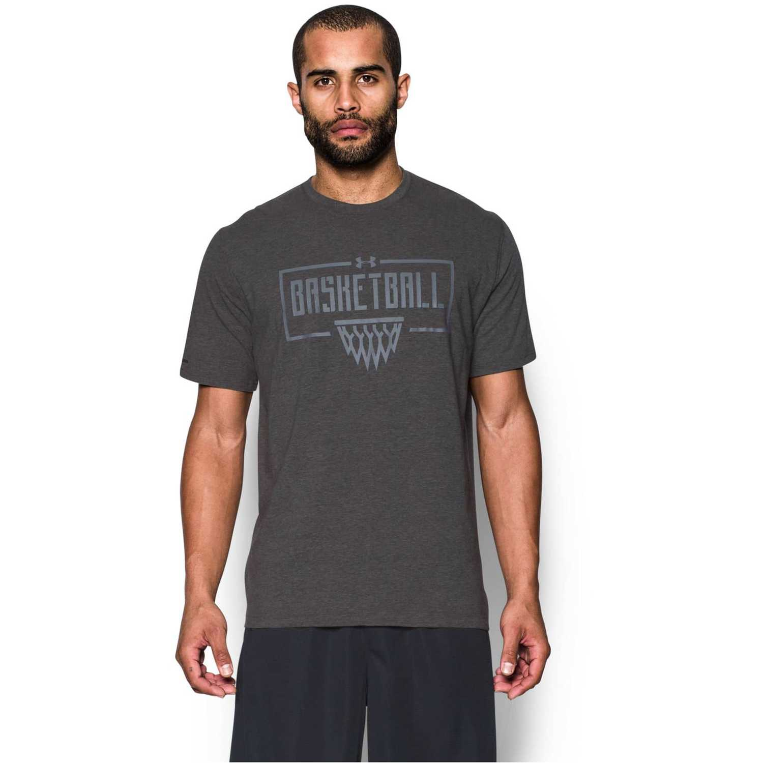 Polo de Hombre Under Armour Gris ua basketball wordmark tee ... 129a8a5356b8e