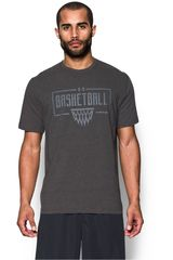Polo de Hombre Under Armour Gris UA BASKETBALL WORDMARK TEE