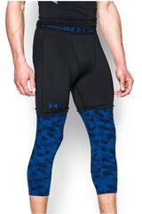 Under Armour Negro / Azul de Hombre modelo SC30 3/4 LEGGING Deportivo Pantalones Pantalonetas Mallas