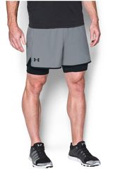 Under Armour Gris / negro de Hombre modelo ua qualifier 2-in-1 short Shorts Deportivo