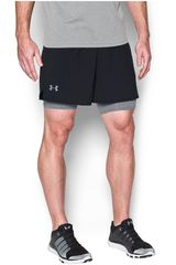 Under Armour Negro /gris de Hombre modelo UA QUALIFIER 2-IN-1 SHORT Deportivo Shorts
