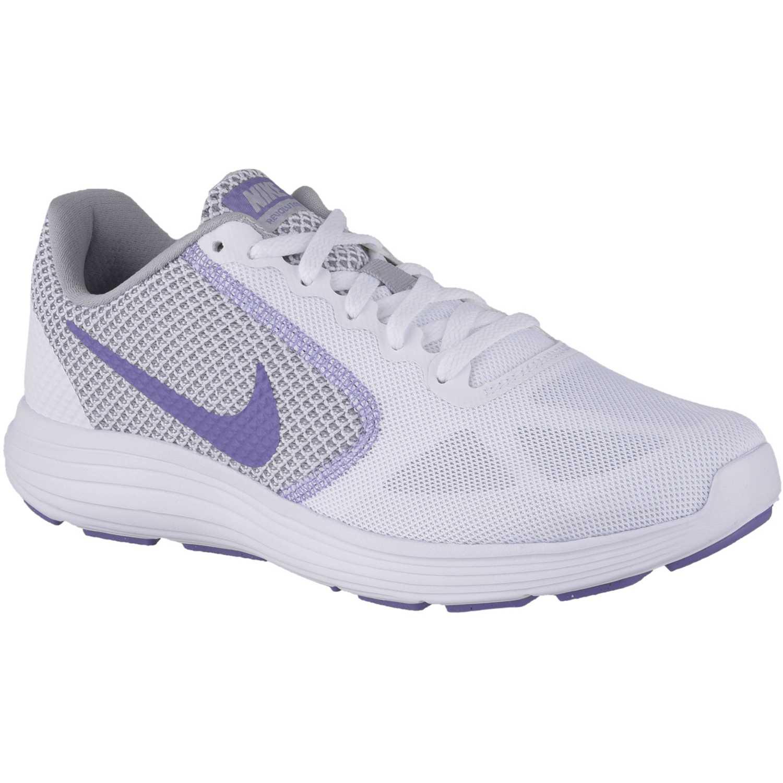 5618863f559f7 Zapatilla de Mujer Nike Blanco   morado wmns revolution 3 ...