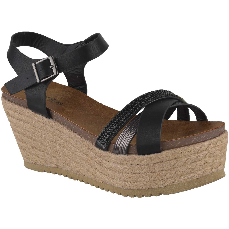 Sandalia Plataforma de Mujer Platanitos Negro spw-3339