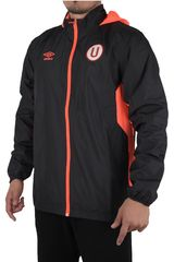 Umbro Negro / Rojo de Hombre modelo UNIV TEAM TRAINING SHOWER JACKET (UNIVERSITARIO) Casacas Deportivo