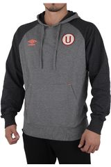 Umbro Plomo de Hombre modelo UNIVERSITARIO HOODED SWEAT Deportivo Poleras