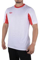 Umbro Blanco / Vino de Hombre modelo LEAGUE JERSEY SS Polos Camisetas Deportivo
