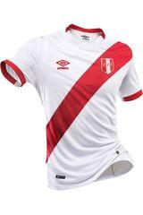 Umbro Blanco / Rojo de Hombre modelo PERU HOME JERSEY S/S Polos Camisetas Deportivo