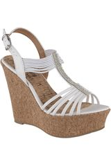 Sandalia Cuña de Mujer Platanitos Blanco SPW-5342