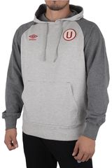Umbro Gris de Hombre modelo UNIVERSITARIO HOODED SWEAT Deportivo Poleras