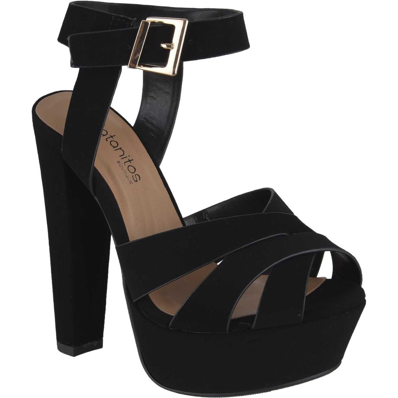 3c6ee938d69 Sandalia Plataforma de Mujer Platanitos negro sp-sedona