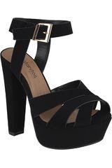 Platanitos Negro de Mujer modelo SP-SEDONA Casual Cuña Sandalias