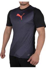 Puma Gris / Negro de Hombre modelo FTBLTRG GRAPHIC SHIRT Deportivo Polos Camisetas