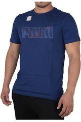Puma Azul / Blanco de Hombre modelo ACTIVE HERO TEE Polos Deportivo