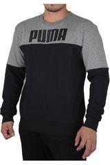Puma Negro /Gris de Hombre modelo REBELBLOCK CREW TR Deportivo Poleras