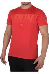 Puma Rojo / Blanco de Hombre modelo RUN S/S TEE Polos Deportivo