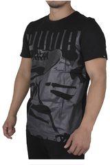 Puma Negro /Gris de Hombre modelo SNEAKERS PHOTO TEE Polos Deportivo