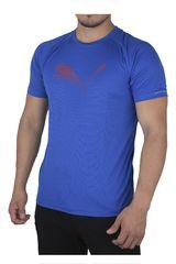 Puma Azul de Hombre modelo CORE-RUN LOGO S/S TEE Deportivo Polos
