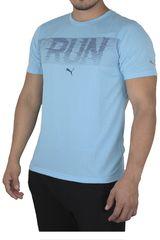 Puma Celeste de Hombre modelo RUN S/S TEE Polos Deportivo