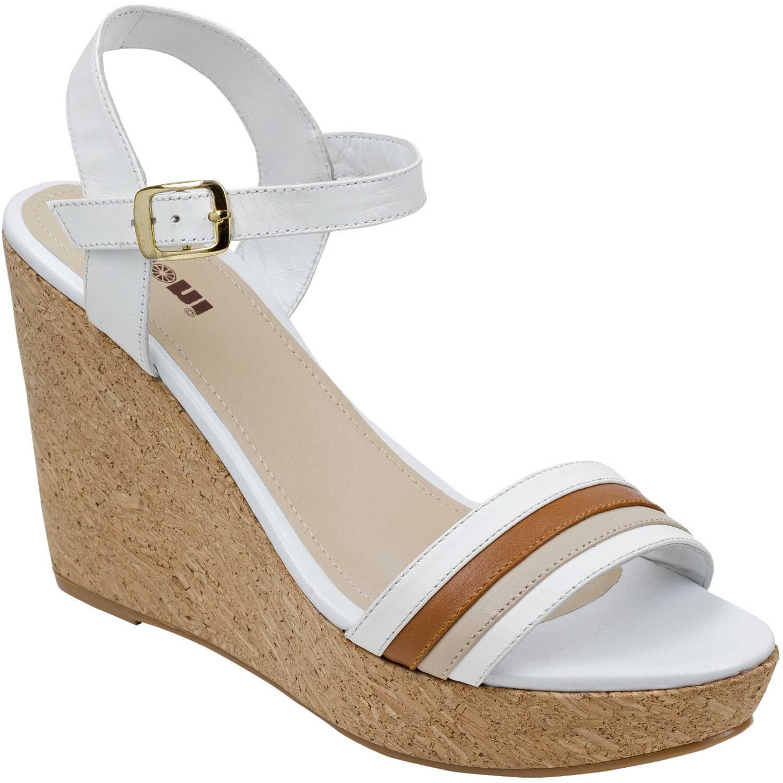 Sandalia Cuña de Mujer Limoni - Cuero Blanco spw-1018104