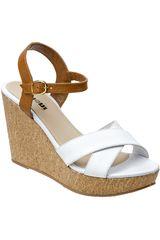 Sandalia Cuña de Mujer Limoni - Cuero Blanco SPW-1018103