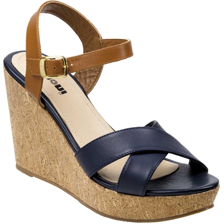 Sandalia Cuña de Mujer Limoni - Cuero Azul spw-1018103