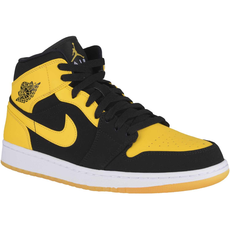 buy popular bb50e 9ff82 Zapatilla de Hombre Nike Negro   Amarillo air jordan 1 mid