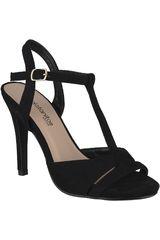 Platanitos Negro de Mujer modelo S-38496 Sandalias Tacos