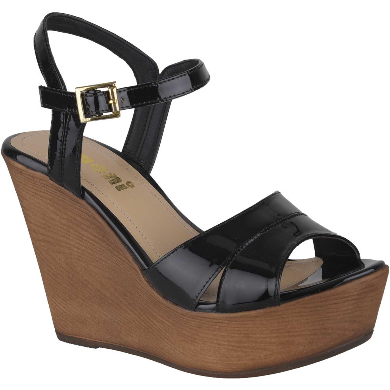 Sandalia Cuña de Mujer Limoni - Cuero Negro spw roxie2