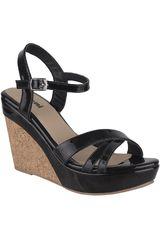 Limoni - Cuero Negro de Mujer modelo SPW SOFI02 Casual Cuña Sandalias