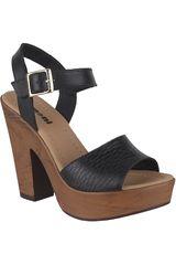 Limoni - Cuero Negro de Mujer modelo SP LEIA 01 Casual Cuña Sandalias