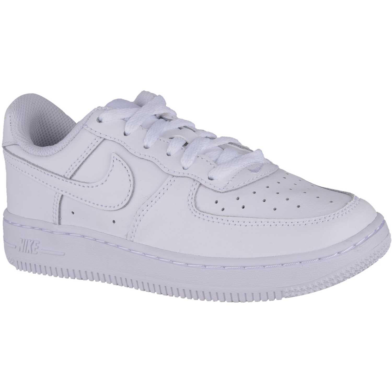 Zapatilla de Niño Nike Blanco force 1 bp