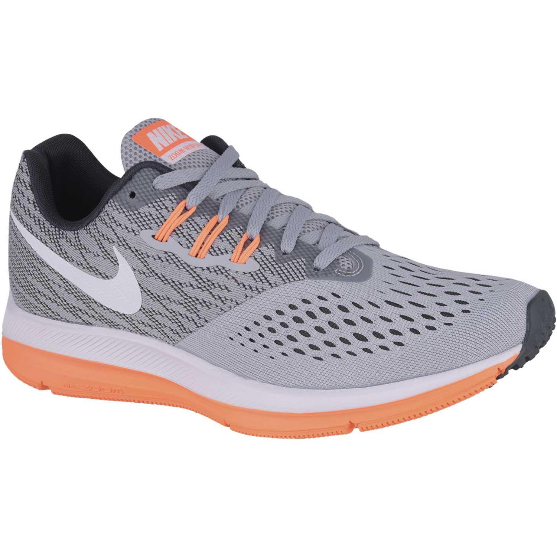 331828eeb85e8 Zapatilla de Hombre Nike Gris   naranja zoom winflo 4