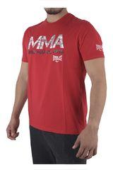Everlast Rojo de Hombre modelo EV ALG/POLY MMA Polos Deportivo