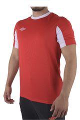 Umbro Vino / Blanco de Hombre modelo LEAGUE JERSEY SS Polos Camisetas Deportivo