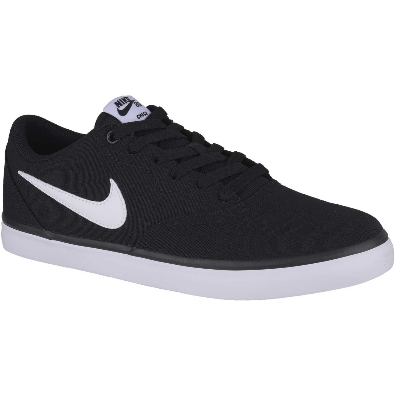 Zapatilla de Hombre Nike Negro / Blanco sb check solar cnvs