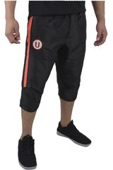Umbro Negro / rojo de Hombre modelo UNIV TEAM BENCH WOVEN 3/4 PANT (UNIVERSITARIO) Pantalones Deportivo