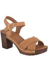 Sandalia Plataforma de Mujer Platanitos Camel SP-5516