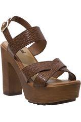 Sandalia Plataforma de Mujer Limoni - Cuero Camel SP DIANA 01