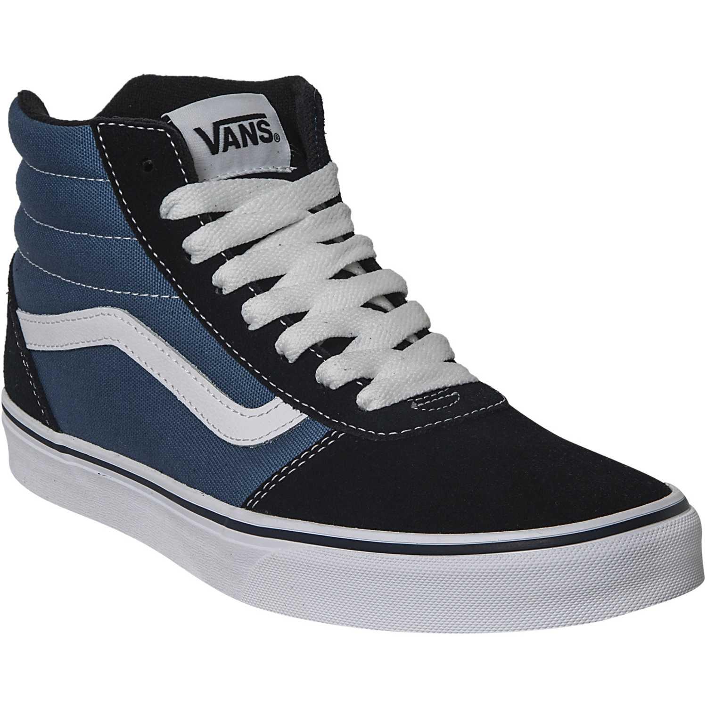 Zapatilla de Hombre Vans Azul   negro ward hi  d323fa56da1