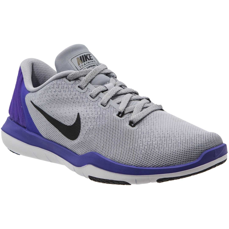 Zapatilla de Jovencita Nike Gris / morado flex supreme tr 5 gg