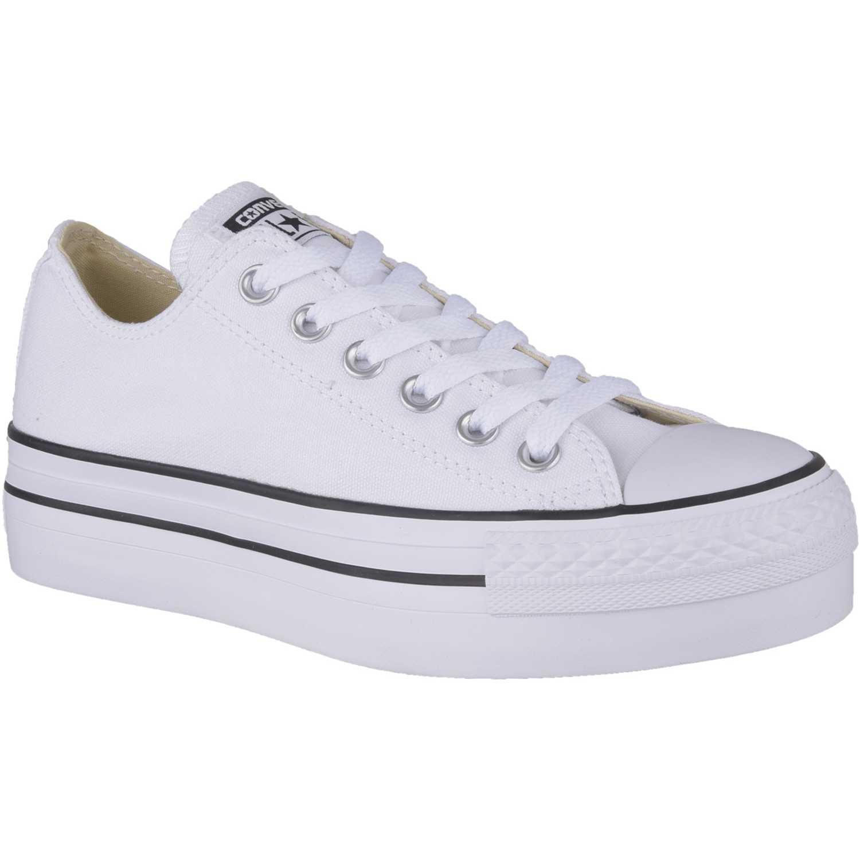 zapatillas converse blanco y negro