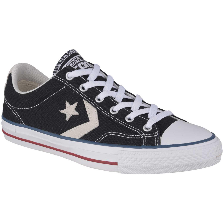 2b84c3b5cbc4c Zapatilla de Hombre Converse Negro   Blanco star player
