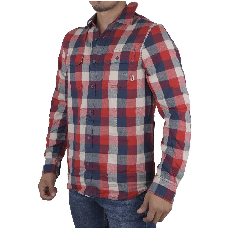 Camisa de Hombre Vans Rojo / azul alameda